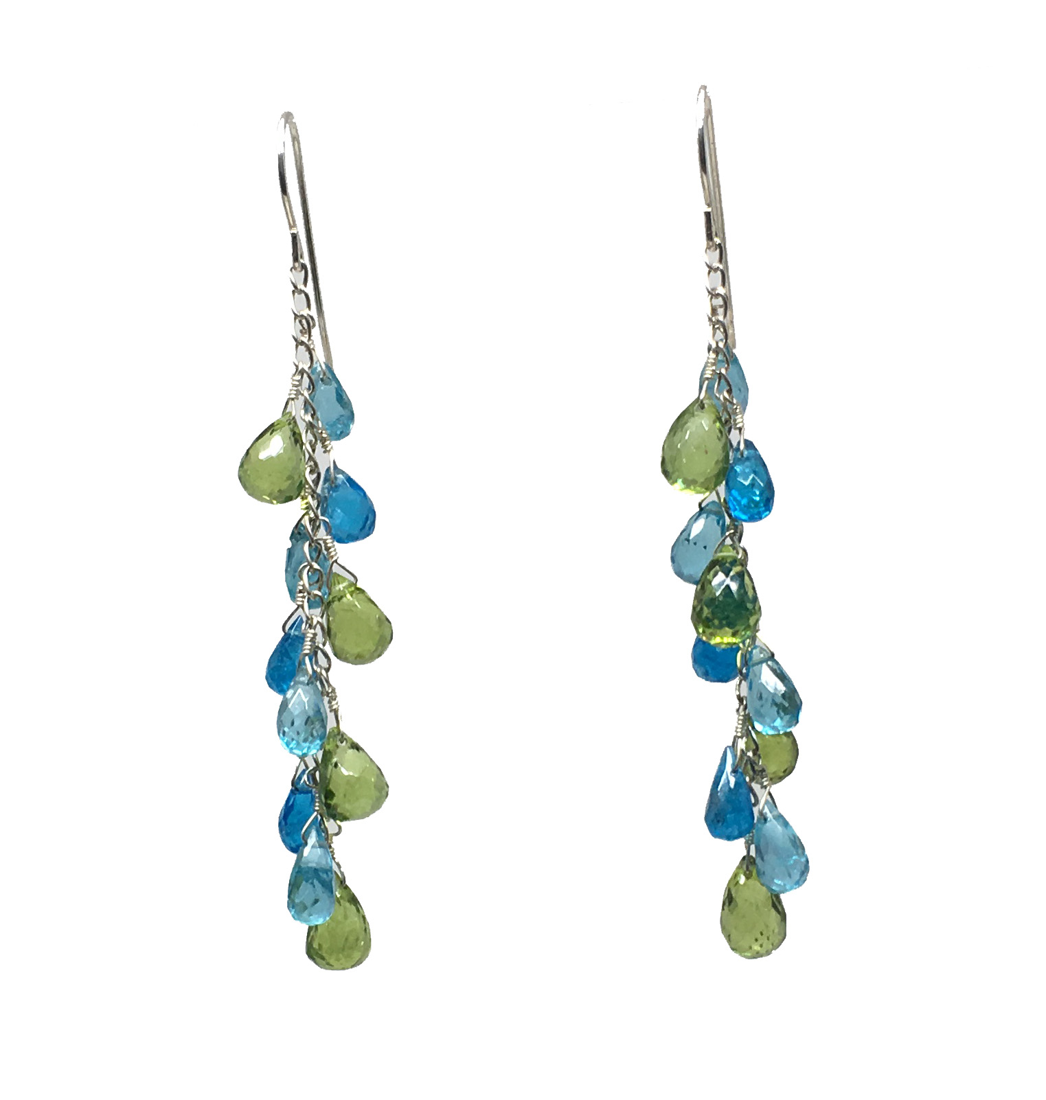shop earrings silver ladies gemstone and apatite handmade aquamarine